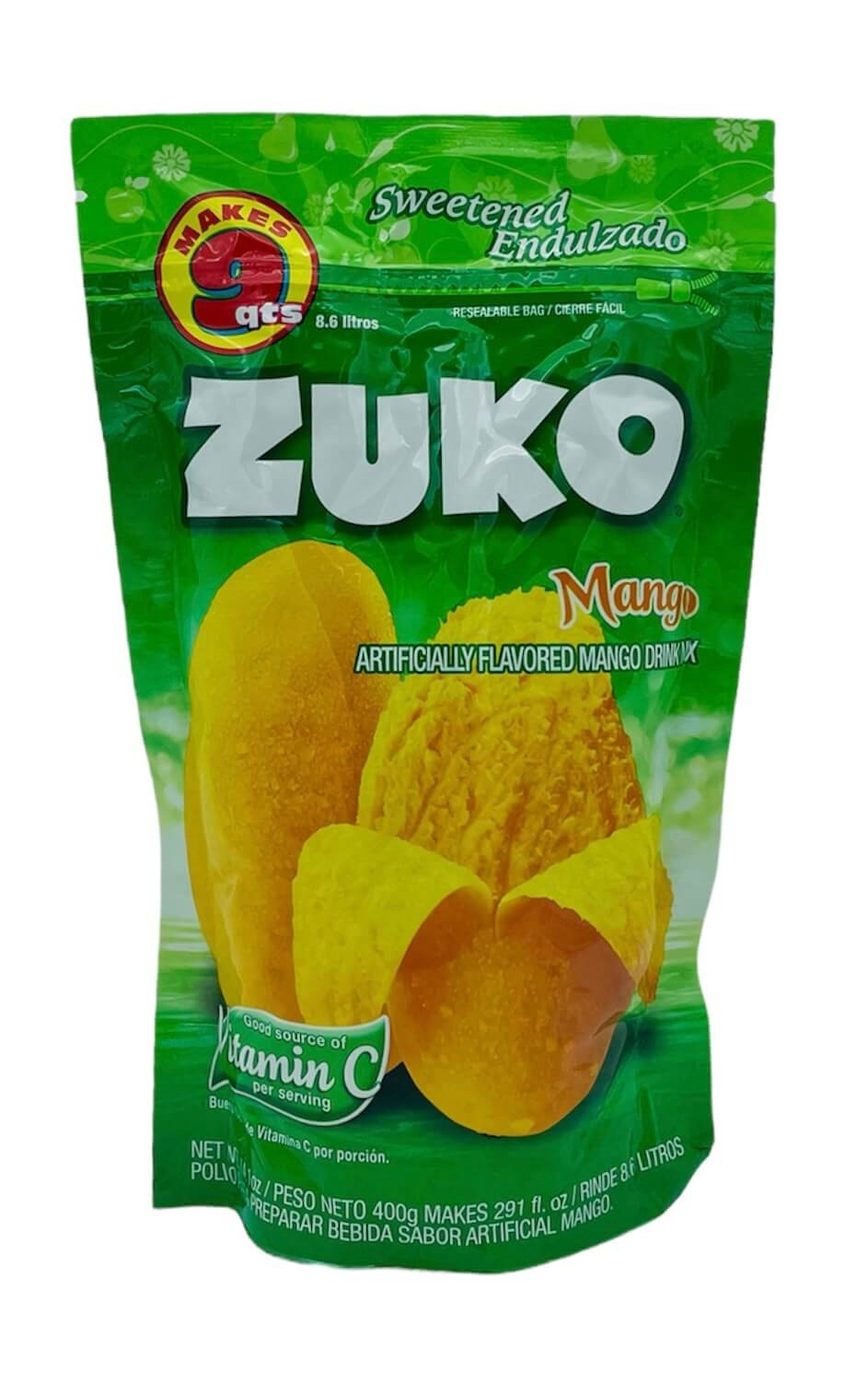 Picture of Zuko Mango Flavor Drink Mix (8.6 Liters) 14.1 oz&nbsp;- Item No.&nbsp;30108-00039