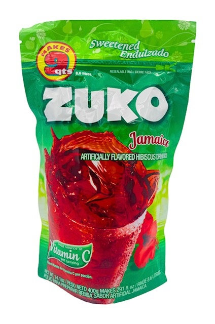 Picture of Zuko Hibiscus / Jamaica Flavor Drink Mix (8.6 Liters) 14.1 oz - Item No. 30108-00041