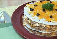 Picture of Corn and Enchilada Pie Recipe - Item No. 305-cornenchiladapie