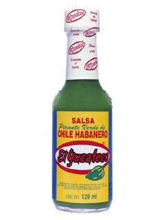 Picture of Green Chile Habanero Sauce by El Yucateco 4 oz. - Item No. 3107
