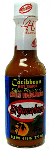 Picture of Habanero - El Yucateco Caribbean Habanero Hot Sauce 4 oz - Item No. 3109