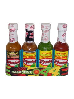 Picture of Habanero Hot Sauces Gift Pack - El Yucateco 4 units&nbsp;- Item No.&nbsp;3112