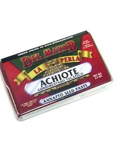 Picture of La Perla del Mayab Annatto Paste - Achiote 3.5 oz grms - Item No. 3152