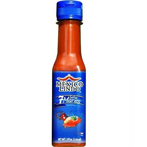 Picture of Salsa 7 Mares - Siete Mares Hot Sauce 5 oz&nbsp;- Item No.&nbsp;3172