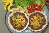 Picture of Black Bean Tortilla Melt - Item No. 318-blackbeantortillamelt