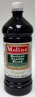 Picture of Mexican Vanilla Blend - Vanillin Extract by Molina - 16.8 FL OZ - Item No. 3193