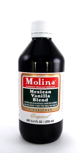 Picture of Mexican Vanilla - Molina Vanilla  8.4 FL OZ - 250 ml - Item No. 3194