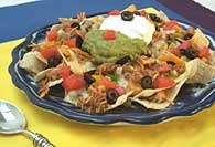 Picture of Chicken Fajita Nachos Mexican Recipe - Item No. 320-chickenfajitanachos