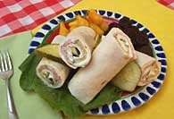 Picture of Turkey Breast Pinwheels Recipe - Item No. 323-turkeybreastpinwheels