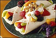 Picture of Fruity Yogurt Crepes Recipe - Item No. 34-crepes