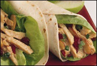 Picture of Curried Pork Wraps Recipe - Item No. 347-curriedporkwraps