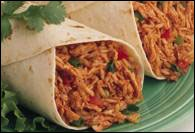 Picture of Chicken and Rice Burritos Mexican Recipe - Item No. 349-chickenrice-burritos