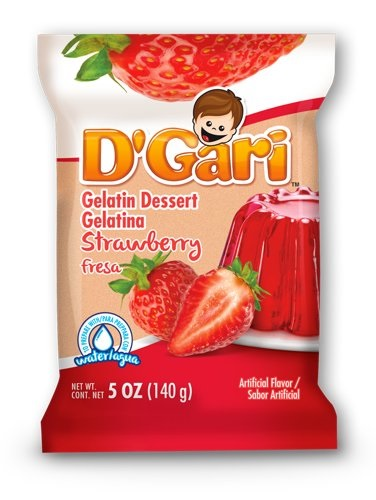 Picture of D'Gari Strawberry Gelatin 6 oz 3 Pack - Item No. 35257-00213