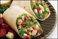 Picture of Turkey Cashew Salad Wraps Recipe - Item No. 354-turkey-cashew-wraps