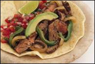 Picture of Grilled Lime Fajitas Mexican Recipe - Item No. 356-grilled-lime-fajitas