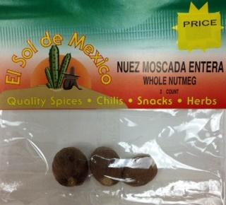 Picture of Nutmeg Whole - Nuez Moscada Entera by El Sol de Mexico 3 CT- Item No.3619