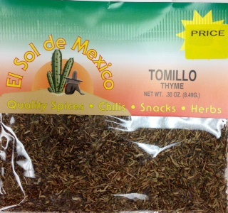 Picture of Tomillo Thyme Herbs by El Sol de Mexico .30 oz - Item No. 3648