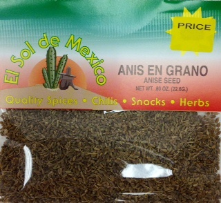 Picture of Anis en Grano - Anise Seeds by El Sol de Mexico .80 oz&nbsp;- Item No.&nbsp;3650