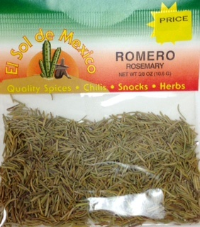 Picture of Romero Rosemary Herbs by El Sol de Mexico 3/8 oz&nbsp;- Item No.&nbsp;3661