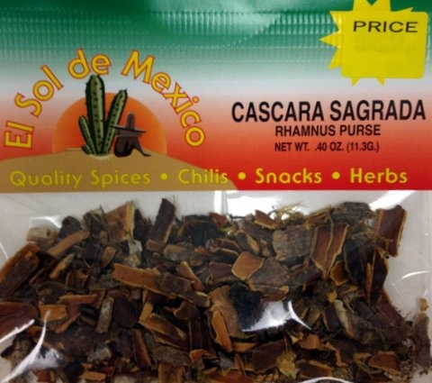 Picture of Cascara Sagrada - Rhamnus Purse by El Sol de Mexico .40 oz&nbsp;- Item No.&nbsp;3664