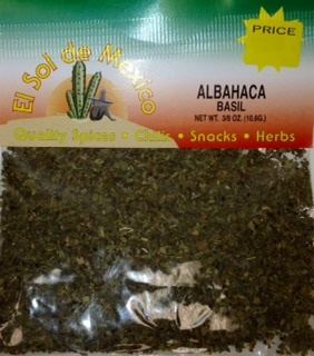 Picture of Albahaca Basil Herbs by El Sol de Mexico 3/8 oz - Item No. 3668