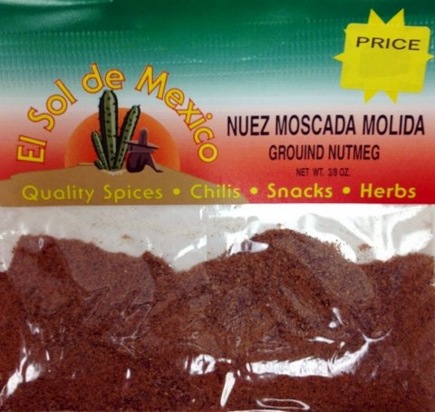 Picture of Ground Nutmeg - Nuez Moscada Molida by El Sol de Mexico 3/8 oz&nbsp;- Item No.&nbsp;3695