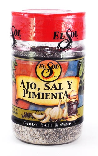Picture of Garlic, Salt and Pepper Seasoning Mix by El Sol- Item No.37714-02003