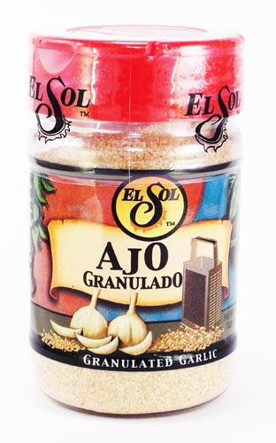 Picture of El Sol Granulated Garlic 4 oz - Item No. 37714-02005