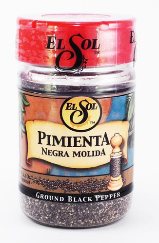 Picture of El Sol Ground Black Pepper 2.5 oz - Item No. 37714-02009