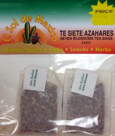 Picture of Seven Blossoms Flowers Tea Bags by El Sol de Mexico - Item No. 37714-7-azahares