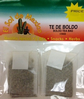 Picture of Boldo Tea Bags by El Sol de Mexico - Item No. 37714-boldo