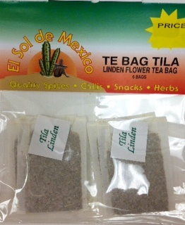 Picture of Linden Flowers Tea Bags by El Sol de Mexico - Item No. 37714-tila