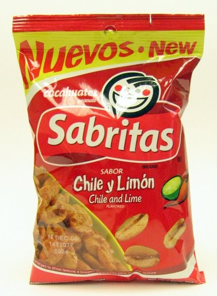 Picture of Sabritas Chile and Lime Peanuts - Cacahuates 7 oz - Item No. 37757