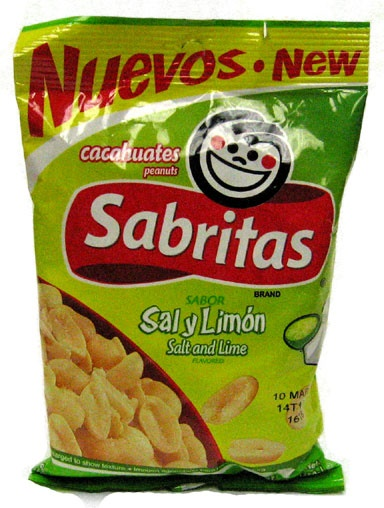 Picture of Sabritas Salt and Lime Peanuts (Sal y Limon) 7 oz (Pack of 3) - Item No. 37846