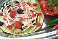 Picture of Spicy Crabmeat Tostadas Recipe- Item No.380-spicycrabmeattostada
