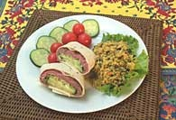 Picture of Roast Beef Avocado and Cucumber Wrap Recipe - Item No. 383-roastbeefavocadowrap