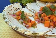 Picture of California Style Quesadillas (low fat) Mexican Recipe - Item No. 410-californiastyleques