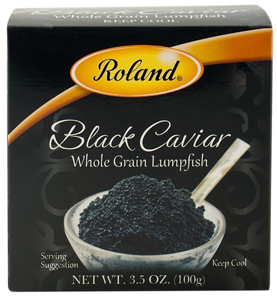 Picture of Black Caviar - Roland Whole Grain Lumpfish Caviar - 3.5 oz - Item No. 41224-20020