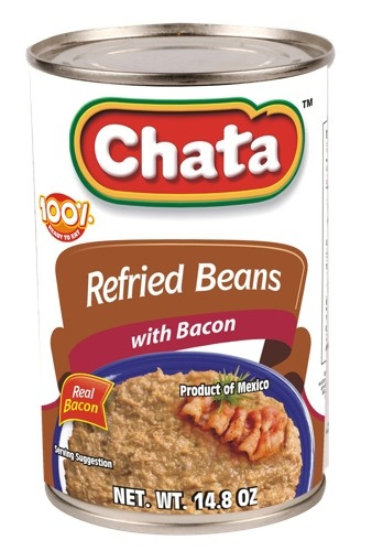 Picture of Chata Refried Beans with Bacon 14.8oz - Item No. 41319-00122