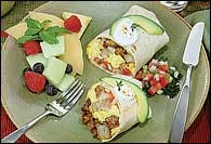 Picture of Santa Fe Sausage Breakfast Burrito - Item No. 424-santafe