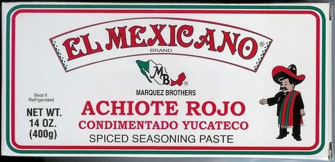 Picture of Achiote Rojo Condimentado Yucateco - Spiced Seasoning Red Achiote Paste by El Mexicano 14 oz&nbsp;- Item No.&nbsp;42743-20045