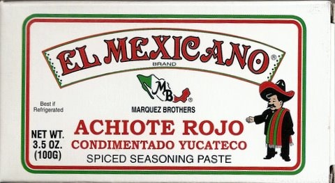 Picture of Achiote Rojo Yucateco - Spiced Seasoning Red Achiote Paste by El Mexicano 3.5 oz - Item No. 42743-20046