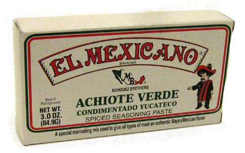 Picture of El Mexicano Achiote Verde 3 oz - Item No. 42743-20048