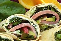 Picture of Ham and Herb Cream Cheese Pinwheels&nbsp;- Item No.&nbsp;430-hamnherbpinwheels