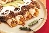 Picture of Eggs and Chorizo Egg and Chorizo Enchiladas Mexican Recipe - Item No. 438-eggnchorizoenchilada
