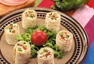 Picture of Ham and Cream Cheese Pinwheels Recipe - Item No. 439-hamcreamcheesepin