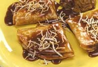 Picture of Cajeta - Caramel Crepes Dessert Recipe - Item No. 441-caramelcoconutcrepes