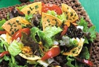 Picture of Delicious Salad with Chips and Herbs Recipe - Item No. 442-delicioussalad