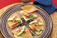 Picture of Vegetarian Quesadillas Mexican Recipe - Item No. 444-veggiequesadillas