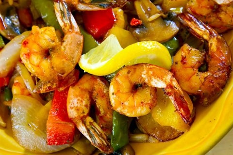 Picture of Shrimp Fajitas Mexican Recipe - Item No. 447-shrimpfajitas